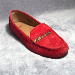 Red Ugg loafers